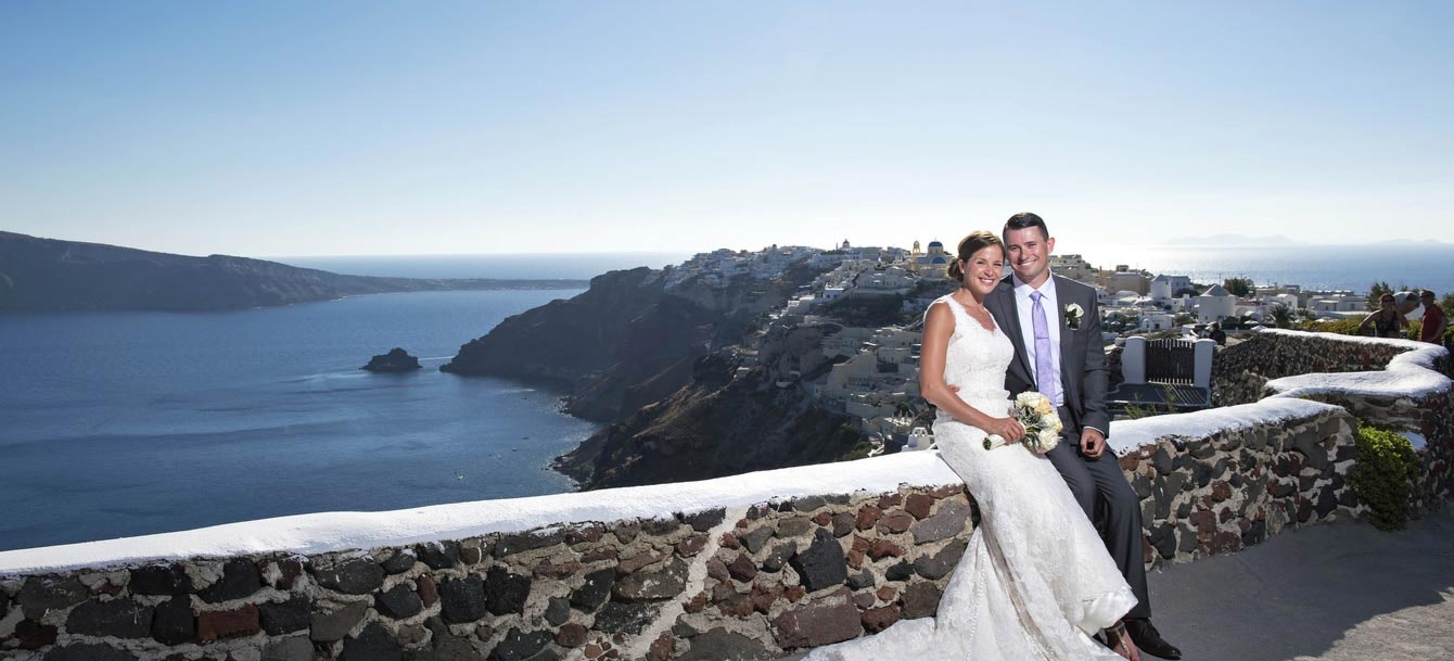 Wedding in Oia Santorini